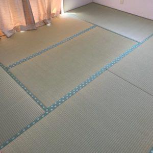 波佐見のお客様宅のフローリングに畳を敷き込んできました